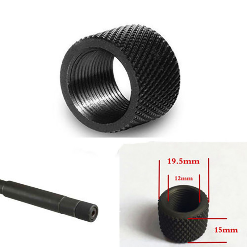 Image 4 - Tactical 4Pc New High Quality Black Oxide Steel 1 / 2x28 Thread Protection & External Small Diamond Knurled Wire Protector-in Hunting Gun Accessories from Sports & Entertainment