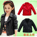 kids coats Children's clothing 2017 fashion spring and autumn baby girl boy clothes Faux Leather outerwear child jackets 2 color