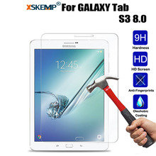 XSKEMP 9H Real Tempered Glass For Samsung GALAXY Tab S3 8.0 T719 Anti-Explosion Transparent Ultra Clear HD Screen Protector Film