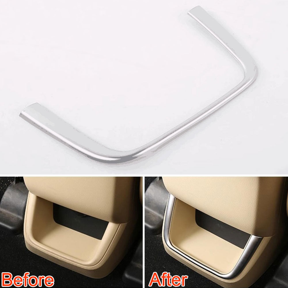 Fit For Toyota Highlander 2015 Car Armrest Box Rear Air Vent Outlet Frame Cover Moulding Trim Styling Sticker ABS