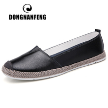 DONGNANFENG Women Mother Ladies Female Genuine Leather Shoes