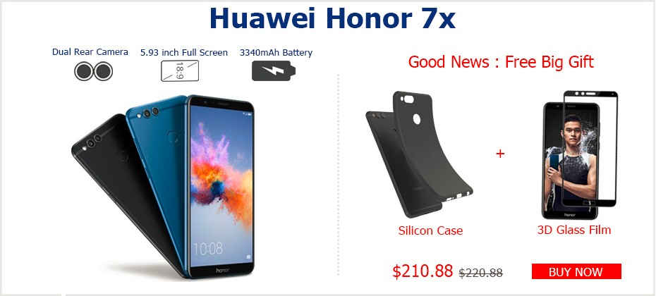 Global Rom Huawei Honor V10 4G 64G Original Mobile Phone Octa Core 5.99 inch 1080x2160P Dual Rear Camera Fingerprint ID NFC