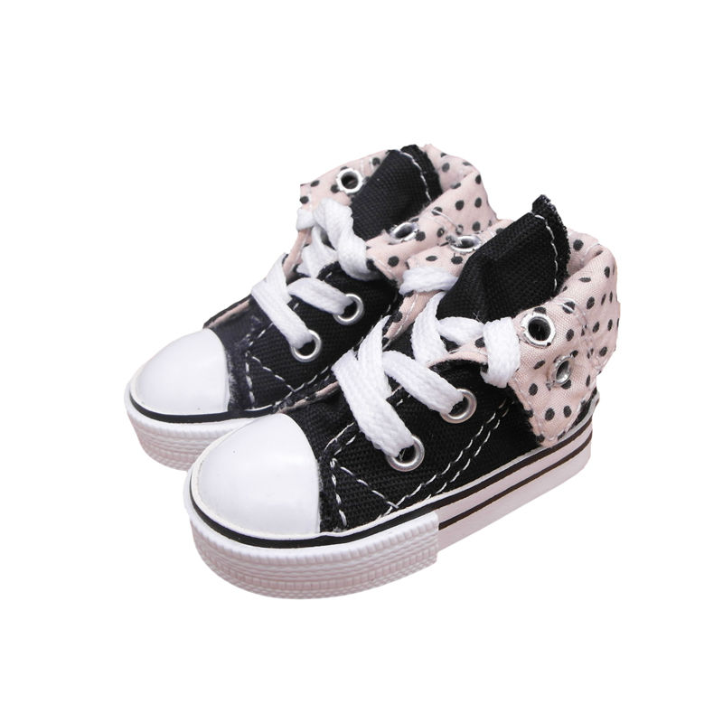 Tilda 7.5cm Canvas Shoes For BJD Dolls,Mini Lovely Textile 1/3 Dolls Sneakers Quality Toy Shoes,Accessories for MSD/SD Doll Toy canvas shoes for paola reina doll fashion mini toy gym shoes for tilda 1 3 bjd doll footwear sports shoes for dolls accessories