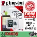 SALE Kingston micro sd card memory card 64b class 10 80MBs high speed microsd cartao de memoria tarjeta micro sd carte tf card