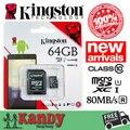 Venda kingston cartão micro sd cartão de memória classe 10 80mbs 64b cartao de memoria tarjeta microsd de alta velocidade micro sd carte tf cartão