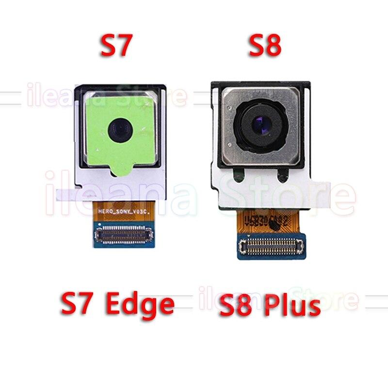 Pour Samsung Galaxy S8 Plus + G950U G950F G955F G955U S7 Bord G930 G930F G935 G935F D'origine Principal Arrière Retour caméra Flex Câble