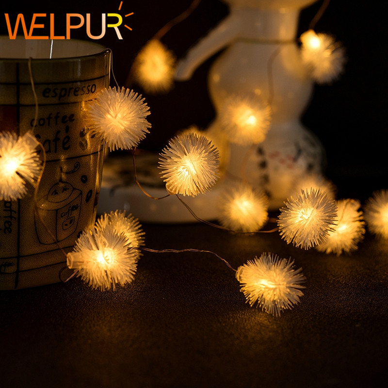 Fairy Lights Waterproof LED Ball Fairy String 50led USB/battery LED String Light Christmas Wedding Decoration Outdoor Lighting