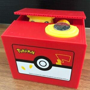 Image 1 - Marka nowy Pokemon elektronicznych plastikowa skarbonka ukraść monety skarbonka sejf na pieniądze na urodziny biurko