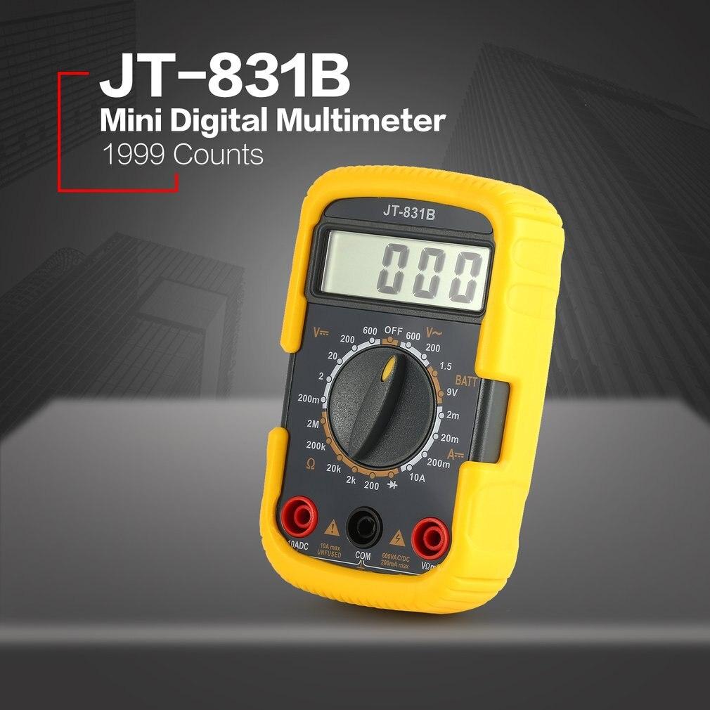 Jt 831b Handheld Mini Digital Multimeter 1999 Counts Ac Dc Volt Diode Measurements Electronic Battery Tester Ammeter Voltmeter Multifunction Multimeters In From Tools