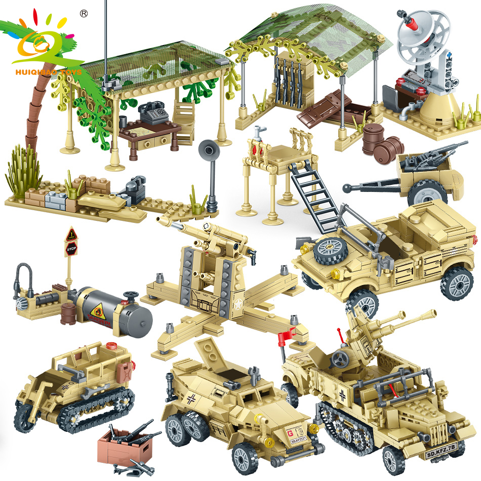 1764pcs Special Forces Tank Truck Building Blocks Legoingly Military Jeep Vehicles Weapon Jungle Bricks Toys Give Army Figures