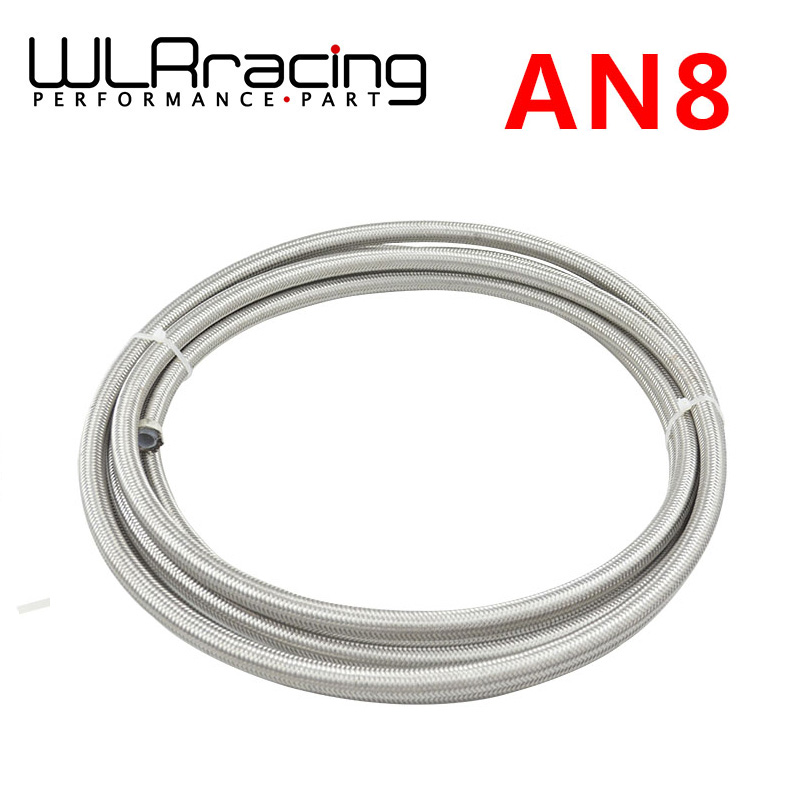 WLR RACING - 5M AN - 8 (11 mm 7/16) Racing PTFE Stainless Steel Braided Teflon Hose Fuel Oil Line WLR7513