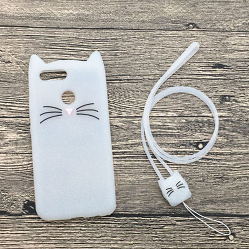 Милый мультфильм 3D медведь кошка телефон Обложка для Huawei наслаждаться 7 s/Huawei P Smart Case Мягкая силиконовая резина сзади В виде ракушки Enjoy7S psmart ...