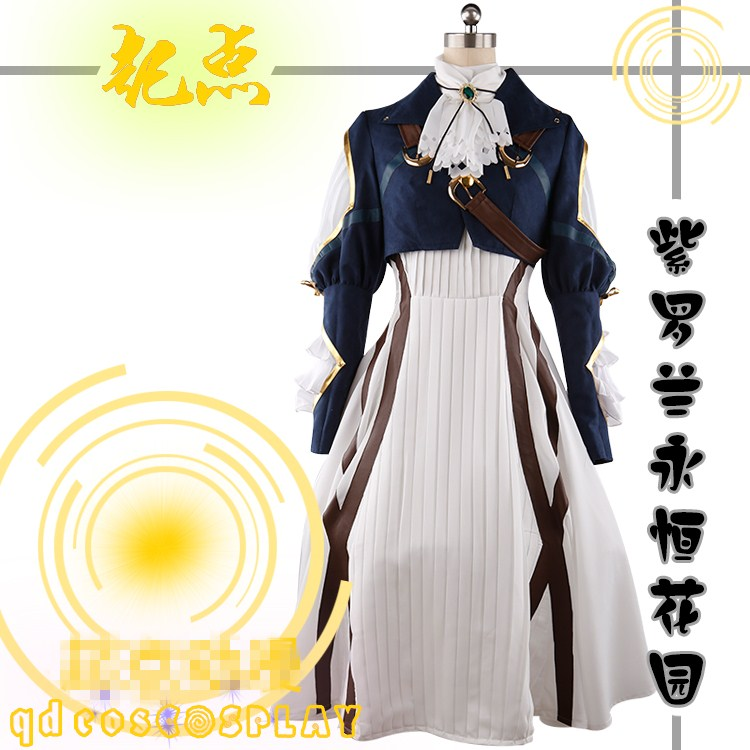 Violet cos Violet Evergarden Dresses Female Cartoon Dresses Cosplay Costume