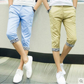 T Aliexpress летом 2016 новый Европейский и Американский стиль тонкий раздел мужчин slim отдых 7 минут брюки китай дешевые оптовая