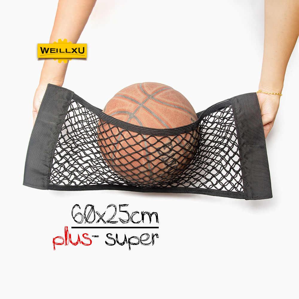 60 25 черный сильный авто эластичный интерьер Волшебная наклейка держатель Автомобильная задняя грузовая сетка для хранения на чемодан сетка сумка органайзер для багажа карман