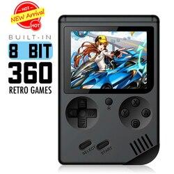 Mini consola de videojuegos 8 bits de bolsillo Retro reproductor de juegos de mano incorporado 168 juegos clásicos mejor regalo para niños nostálgico jugador