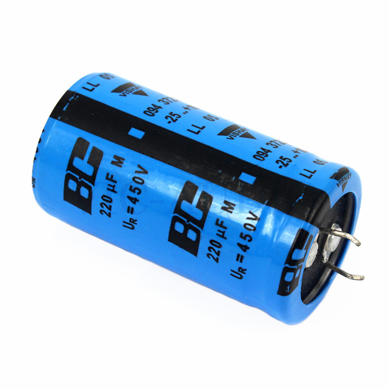 DIY Amplifier Accessories HIFI Capacitor VISHAY BC 450V 220UF Capacitance  Amps Electrolytic Capacitor Filter 1PC Free Shipping