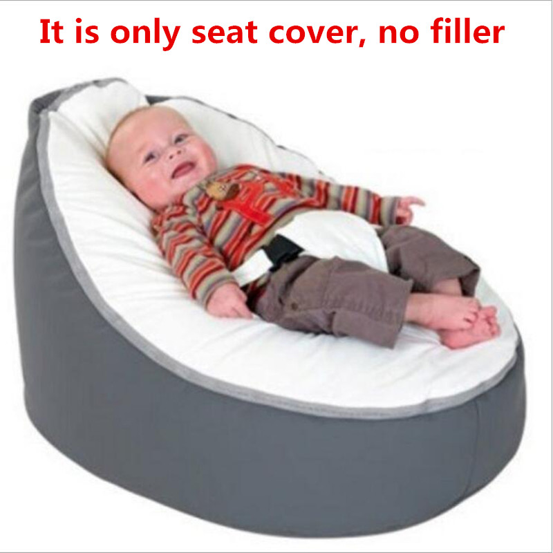 Just A Skin! New Baby Bean Bag Creative Personalized Newborn Lazy Sofa Baby Seat Chair Breastfeeding Bed For Newborn (No Filler)