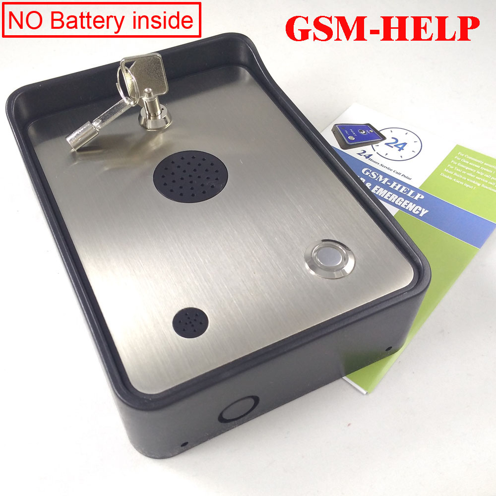 GSM Community Security Alarm System Audio Intercom Alarm Emergency Help Calling Phone Service Intercom