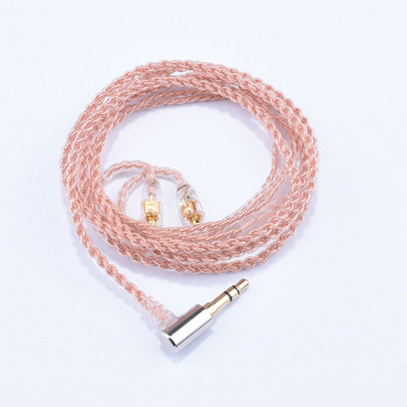 Upgrade MMCX Cable for Shure SE215 Se315 SE425 SE535 SE846 UE900 UE Earphone Silver Plating Single Frozen Crystal Copper