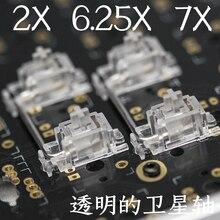 メカニカルキーボードチェリー mx スイッチ pcb 実装桜スタビライザークリア透明ケース 6.25u 剤キー先端スペースバー