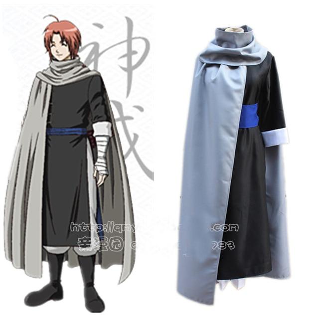 Jiwa Perak Gintama Kamui Anime Kostum Cosplay Pakaian Cape