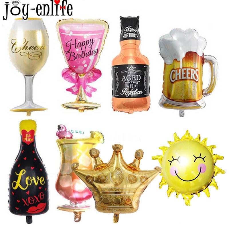 1pcs Big Size Balloons Champagne Glasses Goblet Beer Bottle