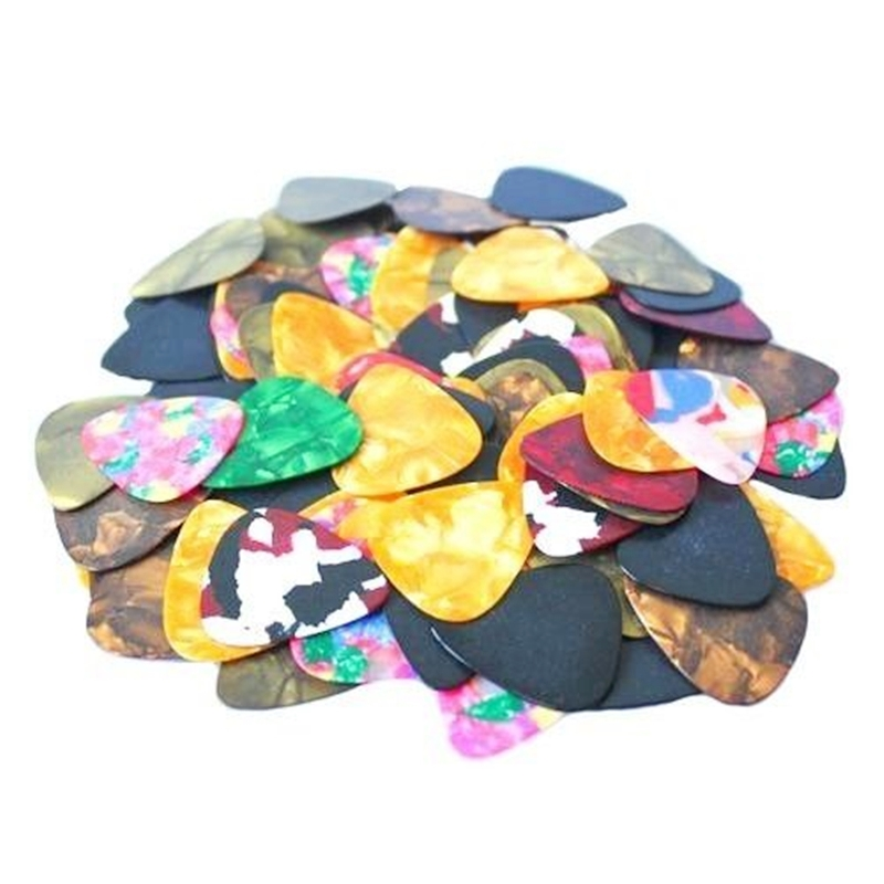 100pcs Acoustic PICKS Electric Bass Pic Plectrum Mediator Guitarra Musical Instrument Thickness Mix Guitar Pick мячи pic n mix мяч массажно игровой большой 18 см