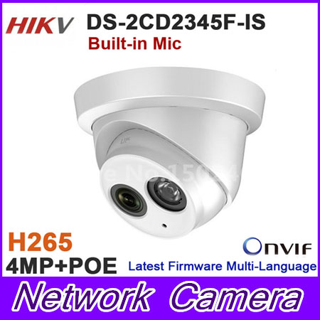 Original DS-2CD2345F-IS 4MP camera CCTV network IP dome camera with mic built in DS-2CD2345F-IS touchstone teacher s edition 4 with audio cd