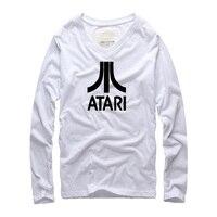 2016 Spring Autumn Long Sleeve T Shirt Brand Top Designer ATARI Printed Creative Mens T Shirt