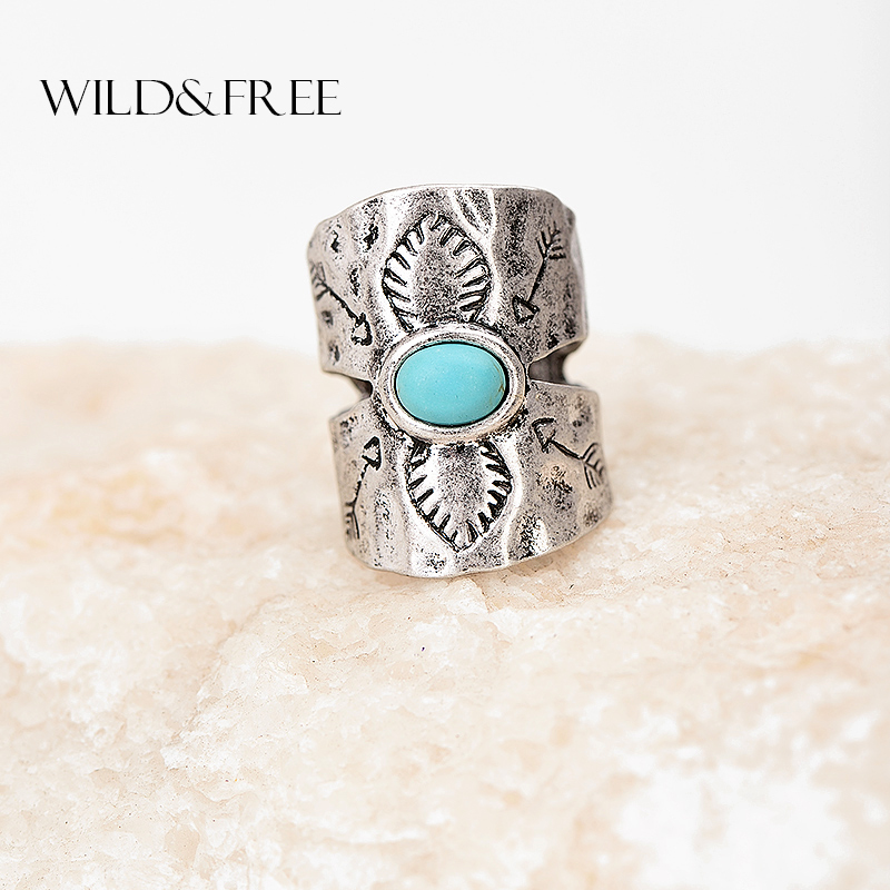 Women Vintage Knuckle Finger Ring Antique Silver Gold Wide Bohemian Midi Ring Female Jewelry