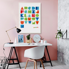 Bianche Wall Geometric Abstract English Letters Canvas Painting Art Print Poster Retro Picture Paintings Home Decoration