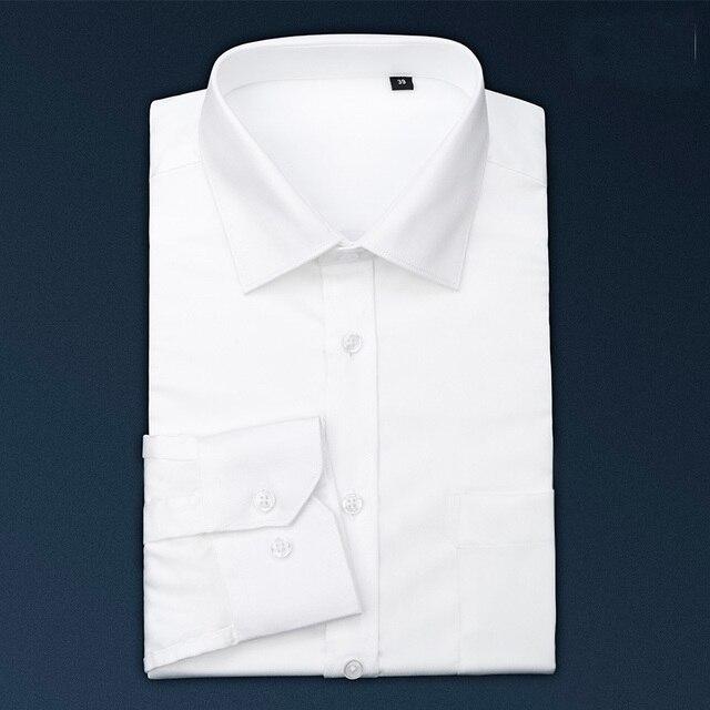 100% Хлопок Высокого Качества Поплина Рубашки Мужчин Camisa Socia Masculina Slim Fit Квадратный Воротник Мужчин Рубашка С Длинным Рукавом