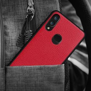 Image 4 - Huawei nova 3를위한 mofi 전화 상자 nova 3 케이스를위한 뒤 표지 nova3 shockproof coque capa pc tpu를위한 본래 pu 가죽 주거