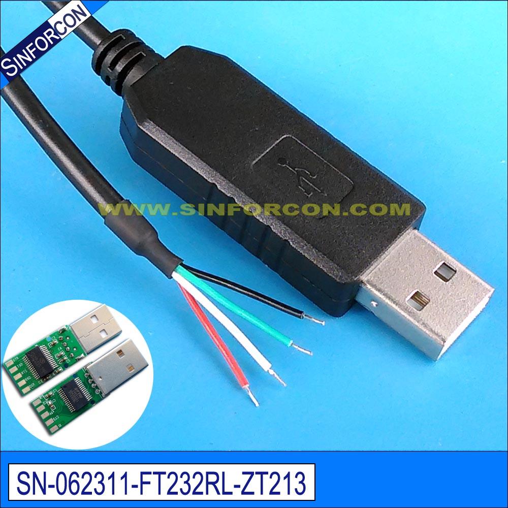 Win8 10 android mac ftdi ft232rl usb para serial rs232 adaptador cabo de extremidade de fio para mcu plc pos scanner