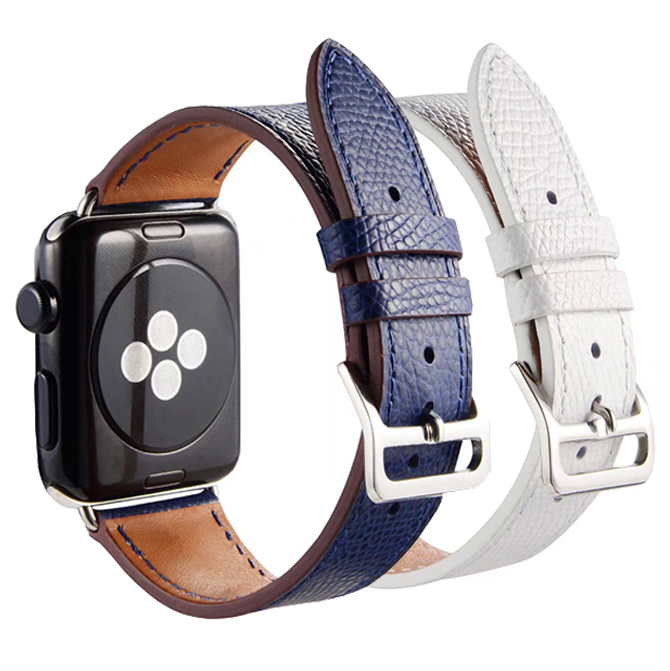 luxury Single Tour Leather loop for apple watch band