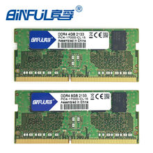 BINFUL DDR4 4G 8G Laptop Memory RAM 2133 Memoria DRAM Stick for Notebook 100% Original 4 GB 8GB