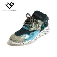 IGU/Женская обувь кроссовки 2019 весенние дизайнерские европейские модные натуральная кожа платформа Вулканизированная обувь для бега Улична