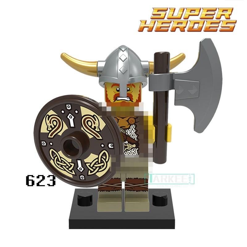 Viking Warrior Building Blocks Atlantis Figures Egypt Limited Edition Super Heroes Batman Action Bricks Kids DIY Toys Hobbies