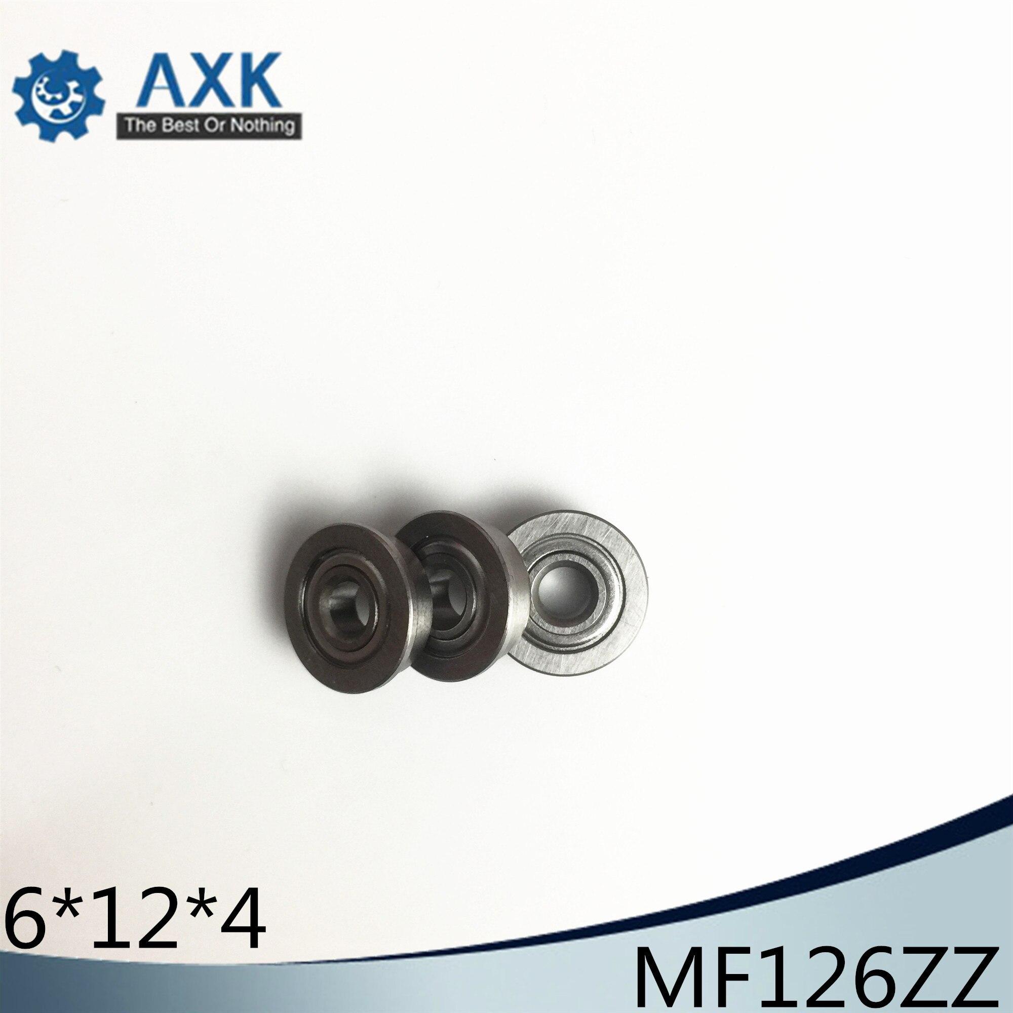 MF126ZZ Flange Bearing 6x12x4 mm ABEC-1 ( 10 PCS ) Miniature Flanged MF126 Z ZZ Ball BearingsMF126ZZ Flange Bearing 6x12x4 mm ABEC-1 ( 10 PCS ) Miniature Flanged MF126 Z ZZ Ball Bearings