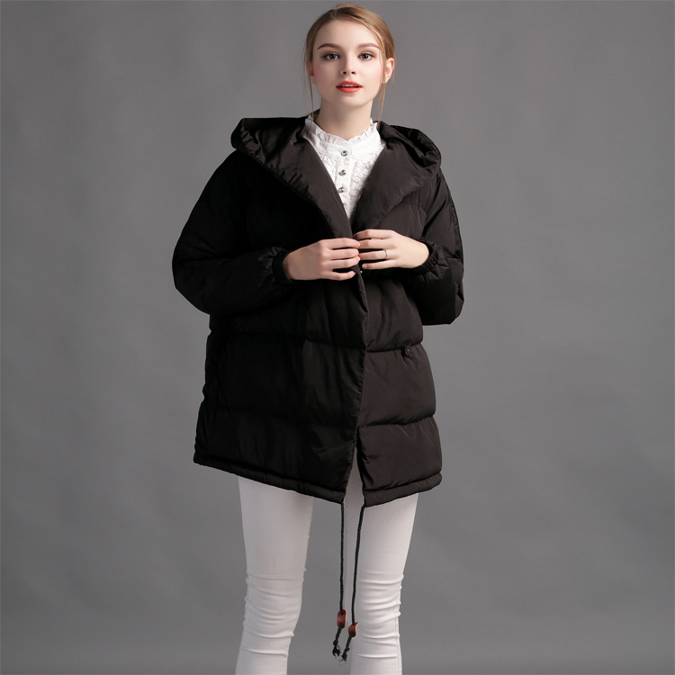 2018New winter loose big yards Ms. hooded down jacket