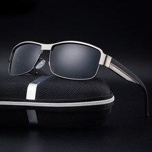 Gafas de Sol Polarizadas de los hombres Diseñador de la Marca 2017 HD de alta calidad de la vendimia gafas de sol de marco de metal gafas de sol gafas de sol hombre
