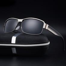 Men's Polarized Sunglasses 2017 Brand Designer HD vintage high quality sun glasses metal frame eyewear gafas de sol hombre