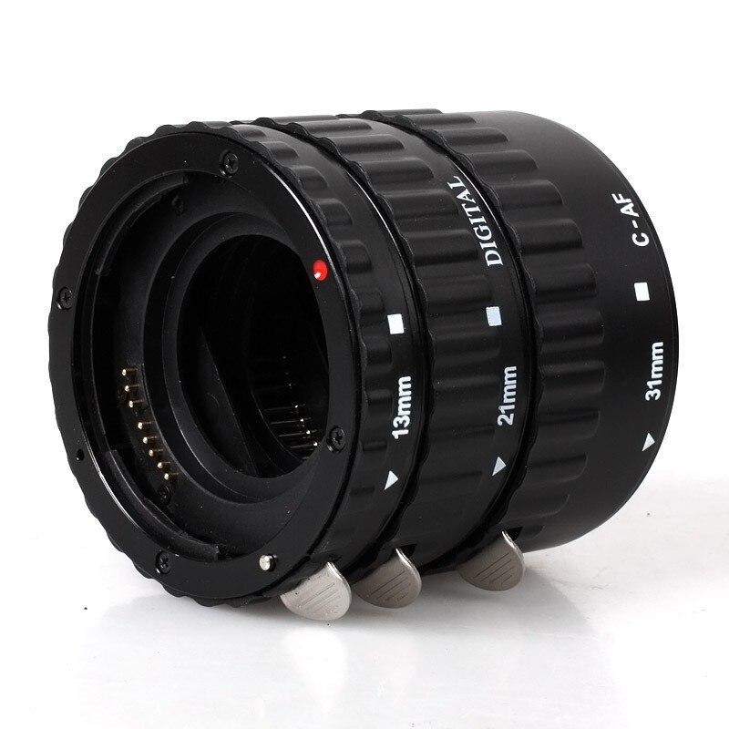 Noir Métal Auto Focus Ring Macro Extension Tube pour Canon EOS EF EF-S 1D X 60D Mark III 7D 6D 5D 450D 400D 350D