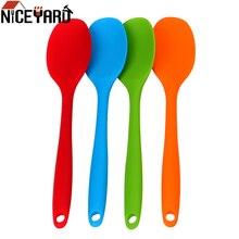 NICEYARD кухонные ложки для супа, ложка для смешивания с длинной ручкой, силиконовая ложка, посуда для приготовления пищи, шпатель для шпаклевки, посуда