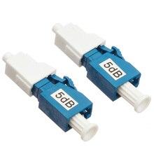 Atenuador de fibra óptica LC UPC 5bd, atenuador de fibra óptica macho de metal LC 5dB