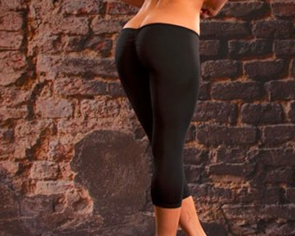 Sexy Cut B Capris Super Low Waist Cropped Trousers Capris Women Pants Slimming Solid Black White Pants