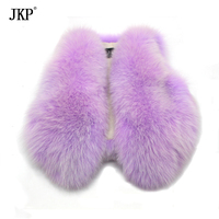 JKP 2018 Real Fox Fur New Purple Kids Vest girls fashion coats Thick Outerwear Warm Children Cotton Vest free shipping MJ 02