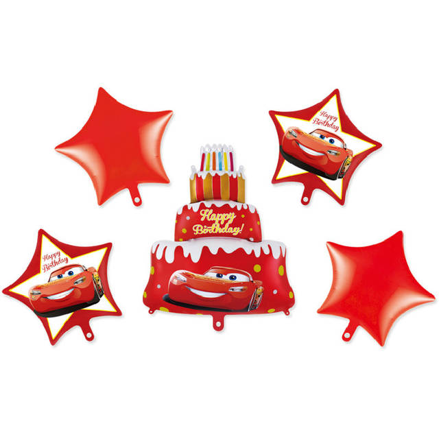 Disney Pixar Cars 3 Lightning McQueen Mickey Minnie Mouse Balloon Happy Birthday Party Cake Decoration Gifts