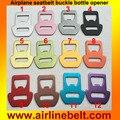 Красочные анодированного Алюминия Самолет ремень пряжка открывалка для бутылок ремень безопасности пряжки Бар Инструмент Соды Открывания Бутылки Пива